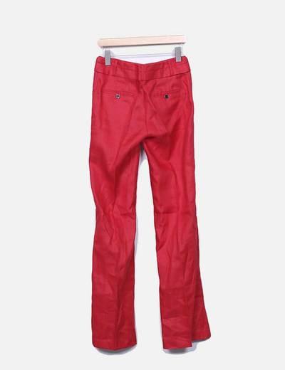Pantalon rojo recto