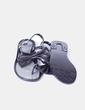 Sandalia negra de goma Moschino