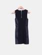 Vestido negro combinado con polipiel H&M