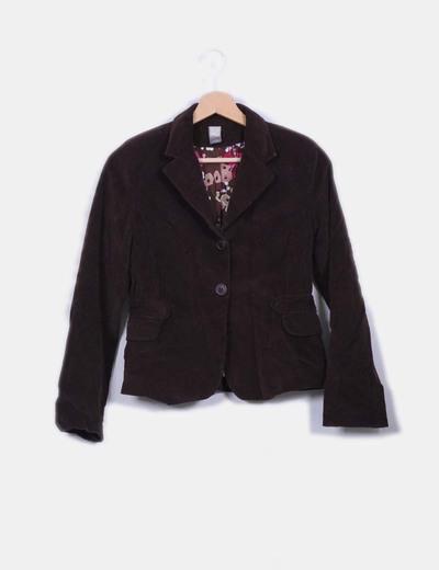 Blazer marrón micropana Zara