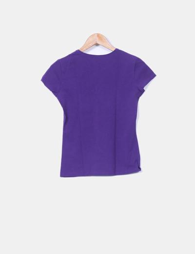 Camiseta basic morada
