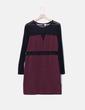 Vestido burdeos con transparencias H&M