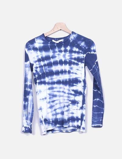 Camiseta de punto efecto desgastado Suiteblanco