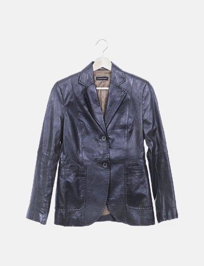 Abrigo corto negro polipiel