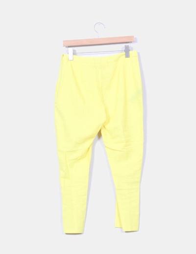 Pantalon amarillo de lino