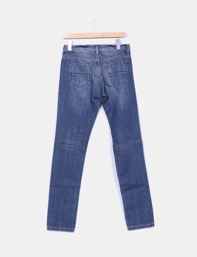 Jeans rectos tono medio