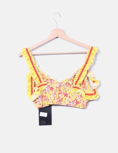 Guts love conjunto crop top y falda amarillo floral for Ariadne artiles medidas