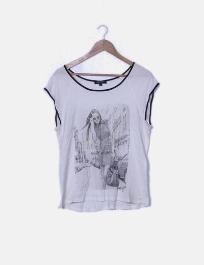 Camiseta blanca print foto
