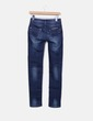 Jeans denim skinny azul escuro Miss Bonbon