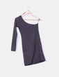 Vestido con brillos escote asimétrico Zara