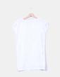 Vestido recto blanco con tachas Atmosphere