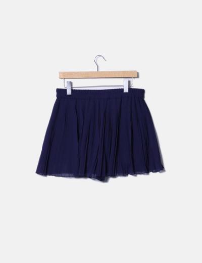 748b5db33 Mini falda plisada azul marino