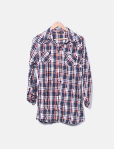 Camisa larga de cuadros Primark