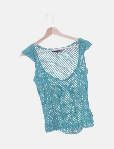 Camiseta verde crochet