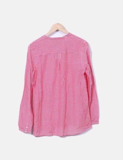 Blusa de cuadros roja