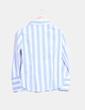 Camisa de rayas azul y blanca Zara