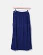 Falda midi azul marina Cortefiel