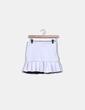 Falda blanca neopreno Zara