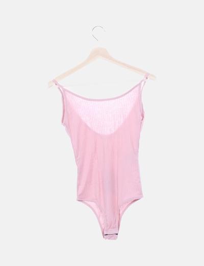 Body rosa canalé