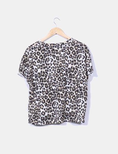 Camiseta oversize animal print