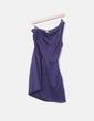 Vestido satén azul marino asimétrico Pull&Bear