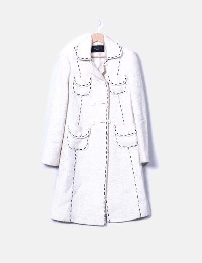 Abrigo largo texturizado Cortefiel