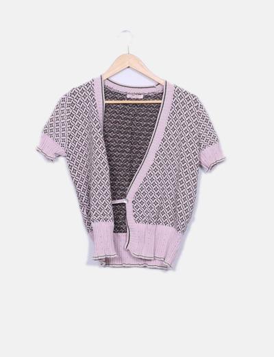 Chaqueta tricot rosa manga corta Precchio Colors Concept
