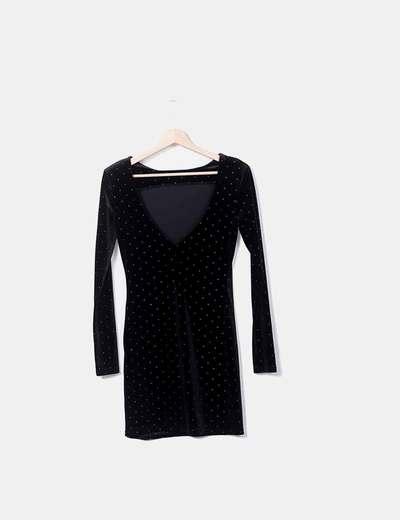Vestido terciopelo negro stradivarius