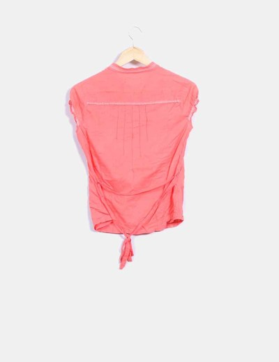 Camisa naranja con bordados