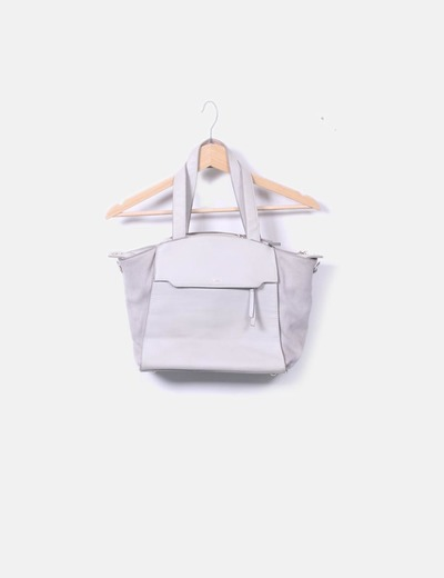 Bolso tote gris
