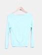 Cárdigan tricot azul mint Suiteblanco