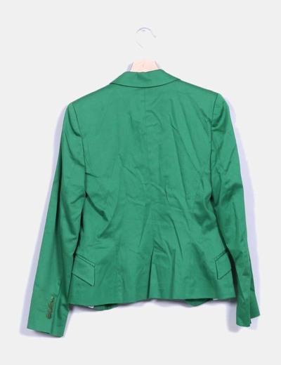 Blazer entallada verde