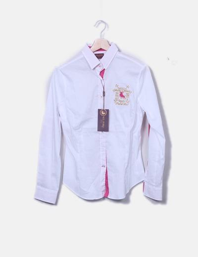 T-shirt blanc avec coudières Piel de Toro