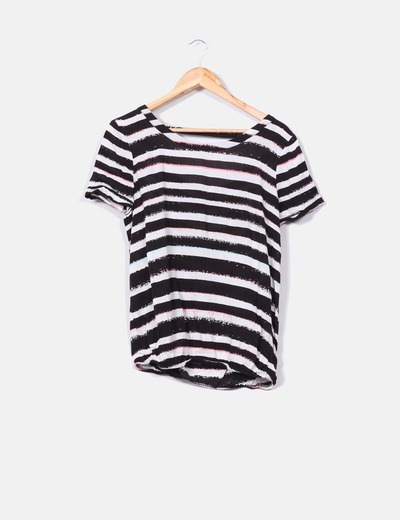 Camiseta de rayas manga corta Naf Naf