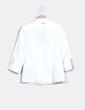 Camisa blanca texturizada con chorreras Pedro del Hierro