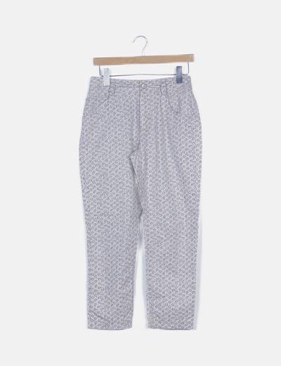 Pantalón beige animal print