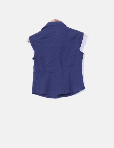 Camisa azul marino manga corta