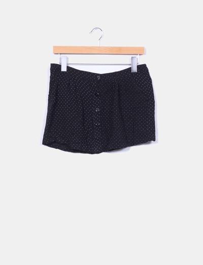 Mini falda negra con topos Double Agent