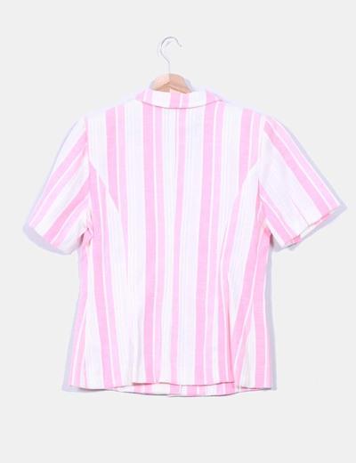 Camisa estampado rayas detalle hombreras
