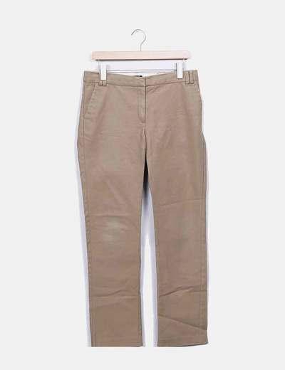 Pantalon droit camel Mango