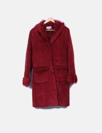 Manteau en velours côtelé avec de la fourrure NoName