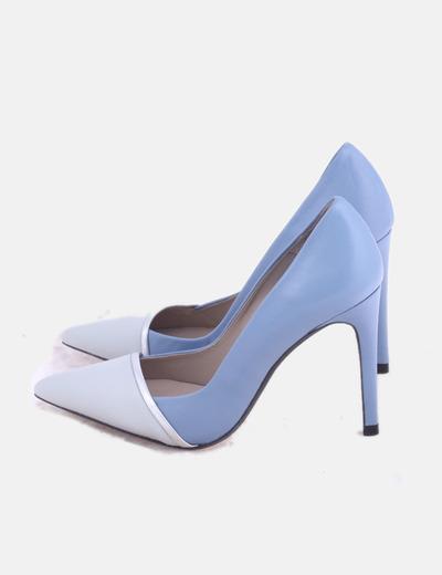 Zapatos salones azul