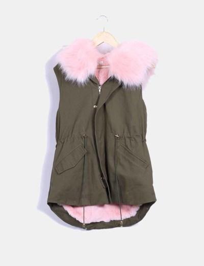 526d1841bc3 Chaqueta verde con pelo rosa – Chaquetas estilo 2019