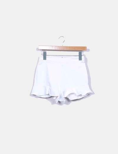 Shorts denim blanco volante