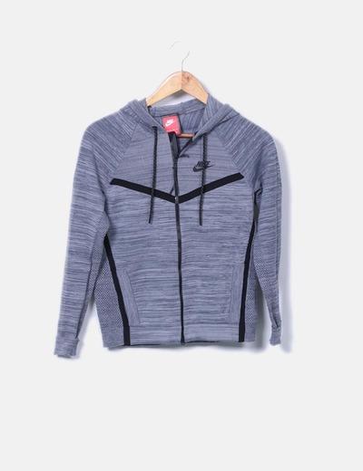 Sudadera tricot gris jaspeada