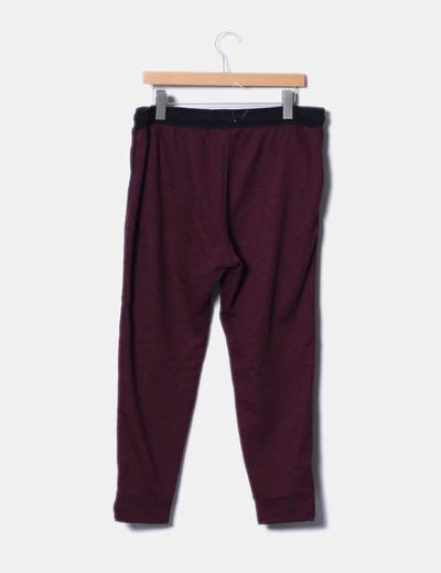 Pantalon baggy burdeos jaspeado