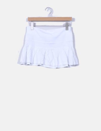 Mini-jupe blanche de sport avec volant Inside