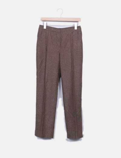 Pantalon marron jaspeado Escorpion