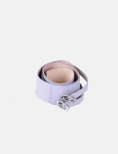 Cinturon gris varias hebillas