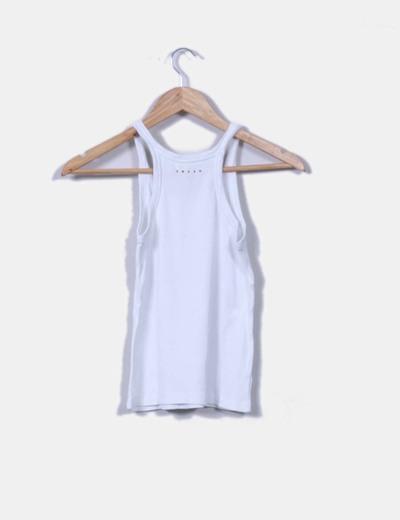 Camiseta nadadora nanale blanco strass mango